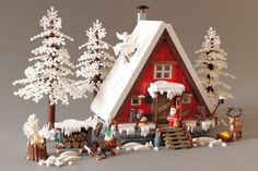 Lego Christmas Village, Lego Winter Village, Christmas Town, Merry Christmas And Happy New Year, Christmas Themes, Christmas Crafts, Lego Blocks, Lego Worlds, Lego News