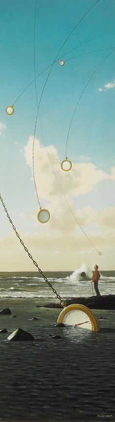 Jimmy Lawlor - Time and tide Jimmy Lawlor, Time And Tide, Beyond The Sea, Rene Magritte, Surrealism Painting, Weird Creatures, Land Art, Surreal Art, Illustrations