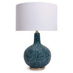"""27"""" $395 Bulb Qty: 1  Socket: E26 3-Way Cast Turn Knob  Wiring Type: Standard  Material: Ceramic  Finish:Blue"""