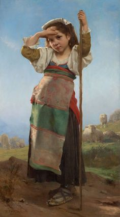 Charles Victor Thirion (1833-1878)  Young Shepherdess