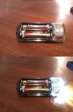 Out of AA batteries? Use AAAs and tin foil in a pinch.