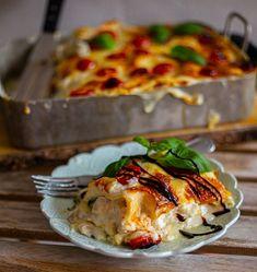 A Food, Good Food, Food And Drink, Mozzarella Pasta, Zeina, Swedish Recipes, Cooking Recipes, Healthy Recipes, Pasta Dishes
