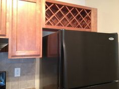 turn a cupboard into a wine rack - Google Search