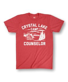 Look at this #zulilyfind! Heather Red 'Crystal Lake Camp Counselor' Tee #zulilyfinds
