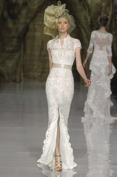 Pronovias spring 2014 wedding dresses - Love the coffee coloured sash