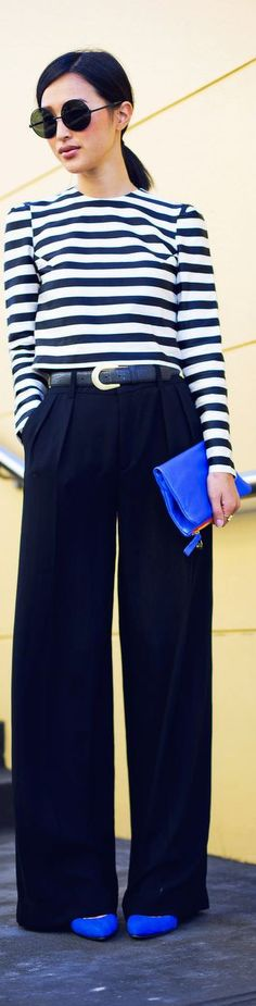 Love the pop of blue...