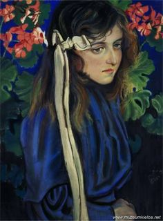 """Polish Painting Masterpieces Stanislaw Wyspianski """"Portrait of Eliza Parenska"""", 1905, pastel on paper, National Museum, Kielce"""