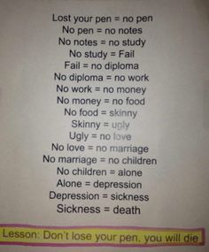 so, keep your pen. or u'll death.