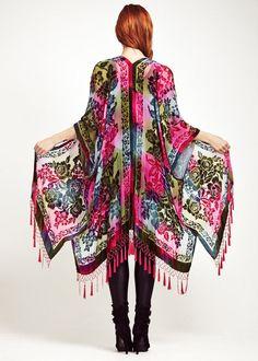 Psychedelic Tie Dye Velvet Kimono por shevamps en Etsy, £169.00