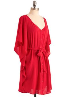 You and Me Forever Dress in Red, #ModCloth
