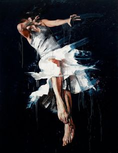Beautiful Paintings of the Expressive Body in Motion - The Art of Simon Birch in My Modern Metropolis