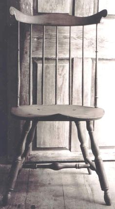 FARMHOUSE – INTERIOR – early american decor inside this vintage farmhouse seems perfect, like this vintage windsor chair.