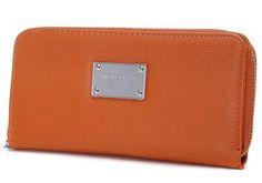 New Michael Kors Wallet Brown Silver Hardware