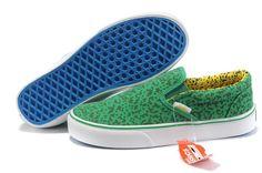 0ff3b4a5b6 Vans Classic Slip On Skate Shoes - Green Black - Vans Skate Shoes Outlet  Store