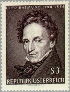 Stamp: Birth Anniversary of Ferdinand Raimund (Austria) (Writer) Mi:AT 1213 Ferdinand, Austria, Postage Stamps, Famous People, Writer, Anniversary, The Incredibles, Actors, Portrait