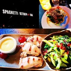 Greetings from #sofia: at @spaghettikitchenbar - great Spinach Salad and the stuffed Calamari - #soulfood #sofia #bulgaria #food #travel #gourmet #foodblog #travelblog #travelblogger #foodblogger #instafood #instatravel #instadrinks #instakitchen #murmelz #murmelzfoodandtravel #murmelzconcept #felixfichtner #Restaurant #Hotel #Rezepte #Drinks #Feinschmecker #iamtb #travelforlife