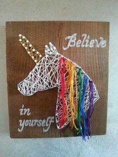 String art licorne arc-en-ciel Cadeau que j'ai fait pour na fille!