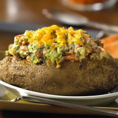 MorningStar Farms® – Griller Crumbles & Broccoli Twice-Baked Potatoes Recipe