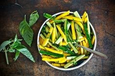 Mango-Cucumber Salad with Cayenne Dressing and Lime Basil