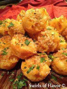 Mini Mac 'N Cheese Bites Recipe on Yummly. @yummly #recipe