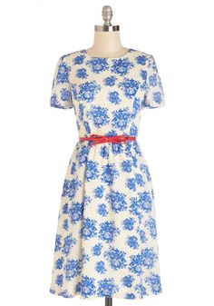 Give It Floral You Dot Dress