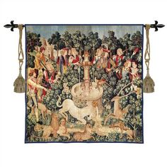 Fine Art Tapestries Still Life Unicorn Dips His Horn Wall Hanging