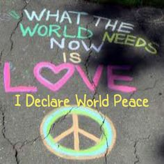 Twitter post for the art project, I Declare World Piece, #IDWP Share and retweet images and share the concept of peace - world peace.