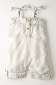 Pinstriped Spaghetti Strap Piped Sunsuit on HauteLook