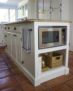 Kitchen cabinet design - Modern farmhouse kitchens - Farmhouse style kitchen - Built in microwav Farmhouse Kitchen Cabinets, Farmhouse Style Kitchen, Modern Farmhouse Kitchens, Kitchen Cabinet Design, Home Kitchens, Rustic Farmhouse, Rustic Cabinets, Country Kitchen, Maple Cabinets