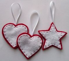 Bugs and Fishes by Lupin: Felt Ornament How-To #1: Stars and Hearts patterns and tutorials