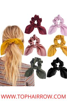 1.What You Get: The package includes 60 pieces of different color scrunchies, enough for daily wearing or sharing with friends and families. These colorful velvet scrunchies are suitable for various occasions, such as parties, ceremonies, or daily wearing, make your hairstyle more attractive. We strive for a better childhood memory for all the children, a more gorgeous look for all the girls, and a stream of happiness for everyone. Hair Barrettes, Hair Clips, Hair Scrunchies, Scarf Hairstyles, Messy Hairstyles, Best Hair Ties, Perfect Ponytail, Ear Hair, Elastic Hair Ties