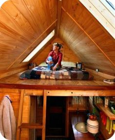 Inside of a tiny house