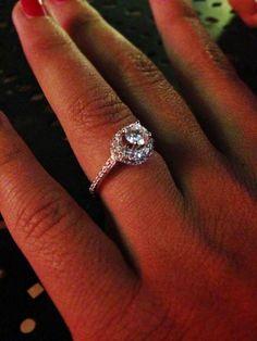 My beautiful engagement ring #Halo