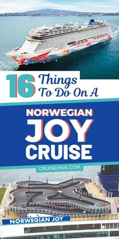 16 Things to Do on a Norwegian Joy Cruise Here's your vacation guide with things to do on a Norwegian Joy cruise. Features onboard and stats about the NCL ship. Packing For A Cruise, Cruise Travel, Cruise Vacation, Packing Lists, Disney Cruise, Norwegian Cruise Line, Best Cruise, Cruise Tips, Carnival Liberty Cruise