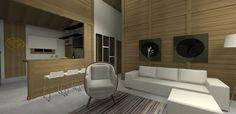 PROJETO 100 m2   SALA / COZINHA 3D 02