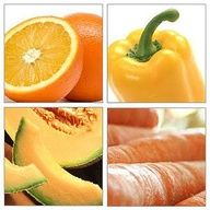 Eating Orange foods support the body by containing antioxidants. Supports reproductive system,  Excellent detoxifying properties. Possible signs that someone has orange deficiencies include stiffness in joints, problems in reproductive organs. Also promotes optimism, while healing grief  disappointment.  Vegetables: Carrot,pumpkin,orange pepper,rutabaga,potato,butternut squash  Fruit: Orange,apricot,peach,persimmon,kumquat,mango  Other Foods: Oats, brown rice, shellfish, egg yolk.