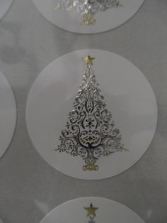 Beautiful, intricate, silver & gold foiled & embossed christmas seals!