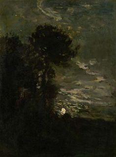 Charles-François Daubigny (1817-1878) - Moonlight c.1870
