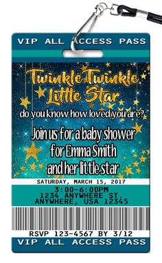 Stars Birthday Invitations