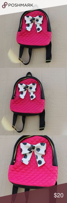 Betsey Johnson Backpack Small Betsey Johnson Backpack. In perfect condition. Used twice. Reason for sale: Not my style anymore. Betsey Johnson Bags Backpacks