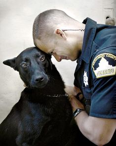 This picture really shows the love and trust between this K9 cop and Handler.