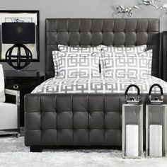 Try our black West Street Bed with our Ming Bedding for a more masculine twist.