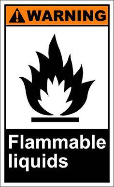 Flammable liquids $1.64 #signs