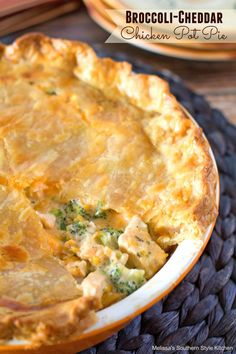 Broccoli and cheddar cheese go together like peas and carrots. This chicken pot pie takes a classic up a notch with a creamy cheddar cheese sauce that smothers roasted chicken and tender broccoli florets. It's a hearty one dish meal that comes together in a snap. Just like many of you, when it comes to …                                                                                                                                                      More