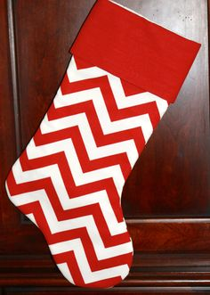 christmas | chevron stocking idea love these but with the kids names on them!!!!