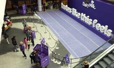 @CadburyUK keeping @WestfieldLondon #shoppers sweet with their #bubblewrap #experiential #TastesLikeThisFeels #nice