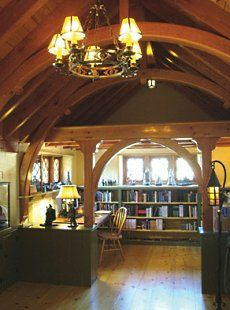 Hobbit house interior.  This would be my library.  I love all the lovely woodwork.
