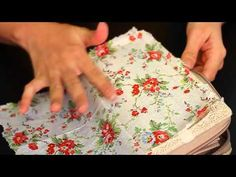 Let's DIY: Napkin decoupage on fabric purse - YouTube