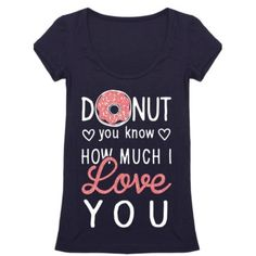 • Donut Love Tee • Valentine Collection ItemAdorable navy graphic tee. Super comfy and stretchy, slimming. Recommend going with your normal size.    95% rayon, 5% spandex   No trades. Price firm. PLEASE DO NOT purchase this listing. Comment below what size you need and I'll make you a listing Jennifer's Chic Boutique Tops Tees - Short Sleeve
