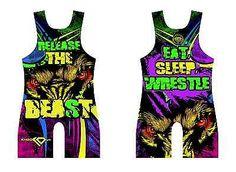KO Sports Gear's Release the Beast Wrestling Singlet - NEW